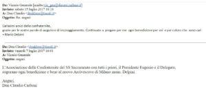 15 luglio 2017 Risposta di SE Mario Delpini alla mail augurale di Don Claudio
